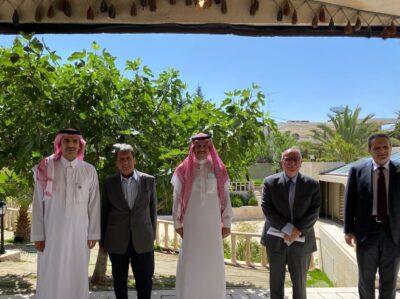 سفير المملكة لدى الأردن يلتقي الرئيس التنفيذي للصندوق السعودي للتنمية ووزراء أردنيين