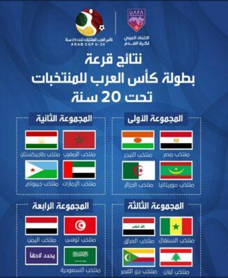 قرعة كأس العرب لمنتخبات الشباب