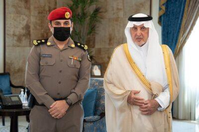 أمير منطقة مكة المكرمة يقلد الغامدي رتبتة الجديدة