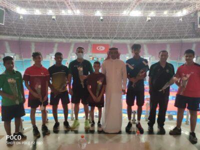 السفير السعودي في تونس يزور بعثة منتخب كرة الطاولة