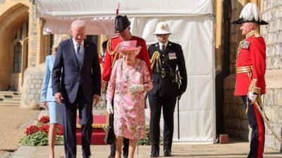 الملكة إليزابيث تستقبل بايدن في قصر ويندسور