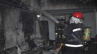 24 إصابة في حريق مصنع للمواد الغذائية في إيران
