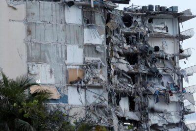 قتيل و 99 مفقودا في انهيار جزئي لمبنى في فلوريدا