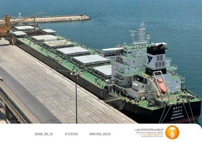 """""""مؤسسة الحبوب"""" تستقبل أول باخرة قمح من إنتاج الاستثمار السعودي بالخارج لهذا العام"""