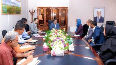 """""""لملس"""" يناقش ترتيبات زيارة رئيس اللجنة الدولية للصليب الأحمر لوصوله إلى عدن خلال الأيام القليلة"""