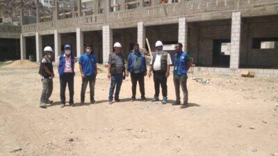 استكمال الأعمال الإنشائية لمدرسة باصهيب الفتح بمحافظة عدن