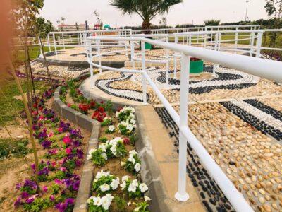 إنشاء ممشى صحي بطول ٢٥م بمنتزه وحديقة اللهابه
