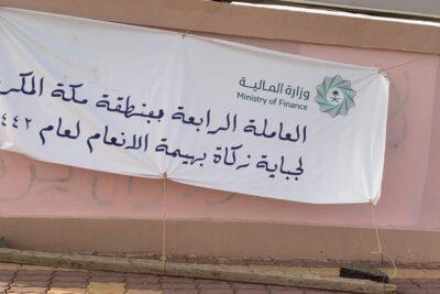 وصول عاملة جباية زكاة بهيمة الأنعام الرابعة في محافظة رنية