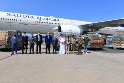 الطائرة الإغاثية الثالثة تصل تونس ضمن الجسر الجوي السعودي