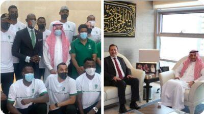 سفير خادم الحرمين الشريفين لدى الأردن يلتقي ببعثة المنتخب السعودي الأول لكرة السلة