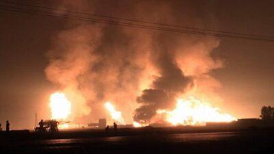 مصرع وإصابة 7 إيرانيين في انفجار داخل محطة أنابيب نفط