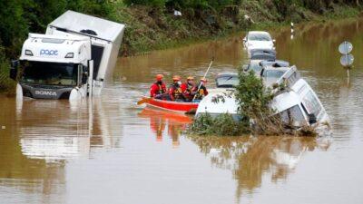 ردود أفعال غاضبة ضد الشرطة الألمانية بمناطق الفيضانات