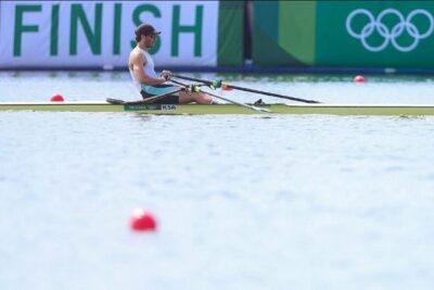 تأهل حسين علي لدور الثمانية بمنافسات التجديف في الدورة الأولمبية