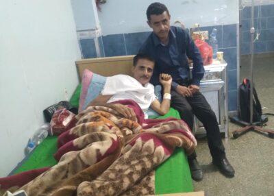 مدير إعلام وزارة الشؤون القانونية وحقوق الإنسان اليمنية يطمئن على صحة السليماني