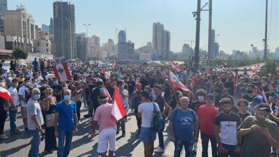 مسيرات حاشدة بلبنان في الذكرى الأولى لانفجار مرفأ بيروت
