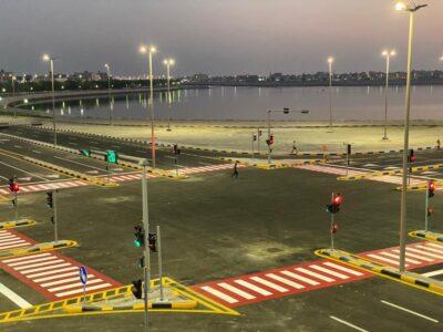 بلدية القطيف تفتتح مشروع تقاطع طريق الخليج مع الرياض