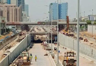 أمانة جدة تنجز 90 بالمائة من أعمال نفق تقاطع التحلية مع المدينة