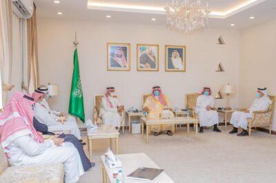 الأمير منصور بن سعد يستقبل رئيس المجلس الاستشاري للتجمع الصحي بحفر الباطن