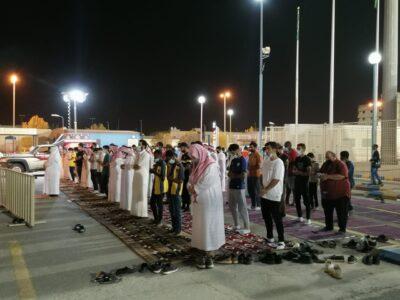 نادي الحزم يوفر مصلى لإعانة الجماهير الرياضية على إقامة الصلاة