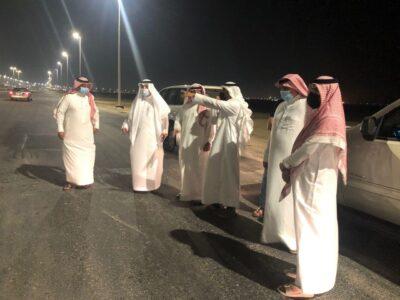 محافظ الخفجي يتفقد الطرق الرئيسية بعد افتتاحها