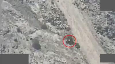 لحظة استهداف «التحالف» مليشيا الحوثي في العبدية.. تدمير 12 آلية ومقتل 108