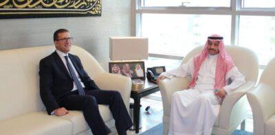 سفير خادم الحرمين الشريفين لدى الأردن يستقبل نظيره المصري
