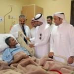 """مدير """"صحة القصيم"""" يتفقد مستشفى الملك فهد التخصصي والذي تقدر تكلفته بـ""""164″مليون ريال."""