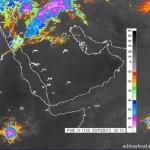 الطقس : سماء غائمة إلى غائمة جزئياً على شمال المملكة