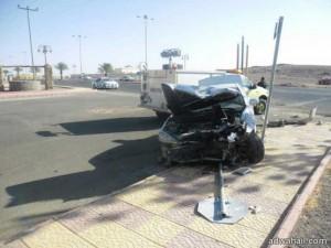 حادث لطالبة جامعية امام  فرع جامعة الحائط في أول يوم دراسي