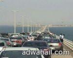 زدحام شديد على جسر الملك فهد يجبر إدارة الجسر لفتح المسارات في الاتجاهين
